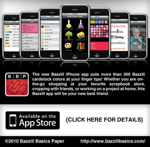 Bazzill iphone app