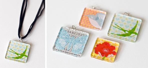 Scrapbook cards today blog glass tile pendants with marla kress pendants mozeypictures Image collections