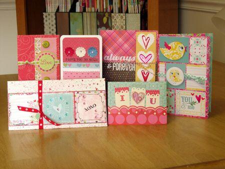 Valentines day card set