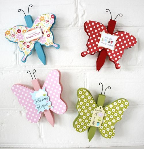 Magnetic Butterfly Pegs (small)