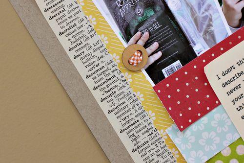 Book paper close up