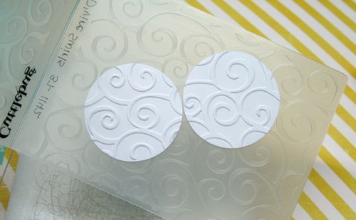 Embossed circles-large