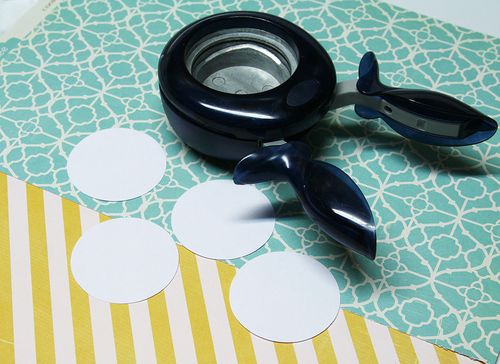 Cut 4 cardstock circles-large