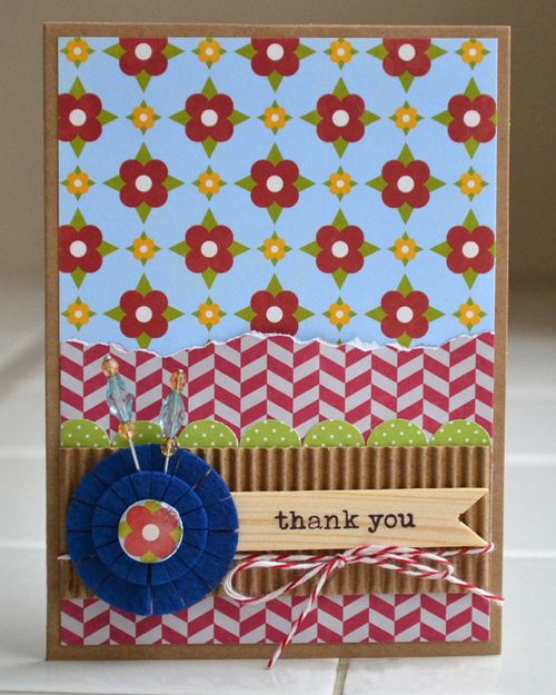 Thank you card_faux scallop border