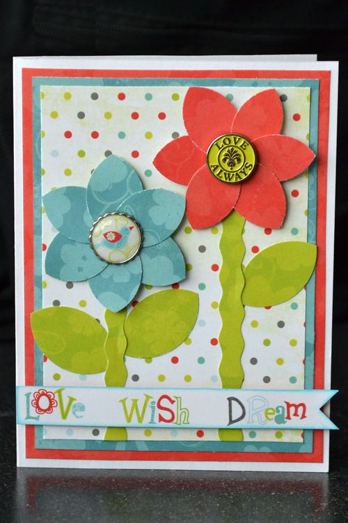 Love wish dream card_easy flowers