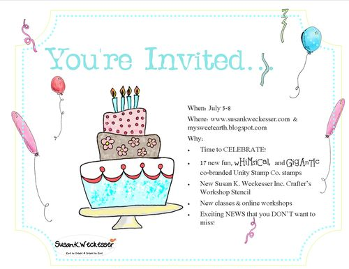 Susan K  Weckesser Big New Invitation
