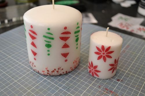 Stamped candles 3