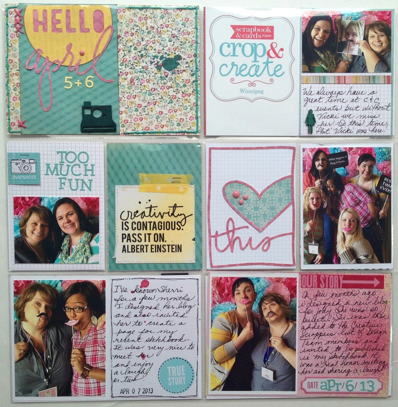 Scrapbook Cards Today Blog Project Life Embellishing With
