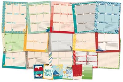 Graphic calendar contents