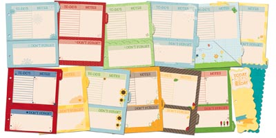 Graphic calendar dividers