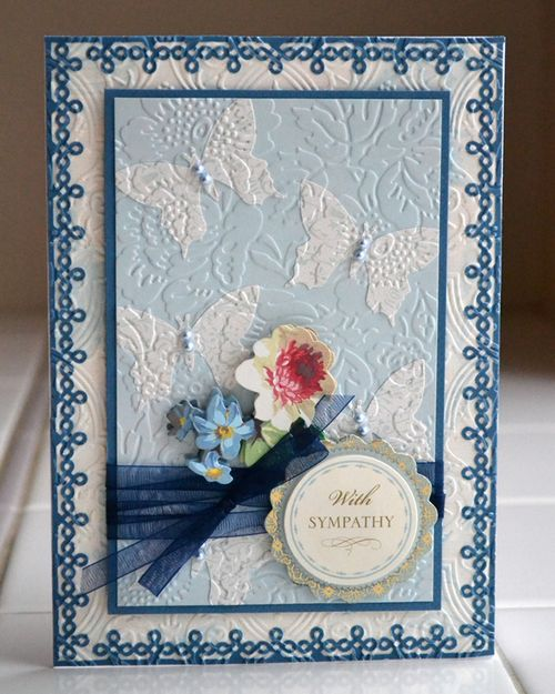 Dry embossed sympathy card_aly dosdall