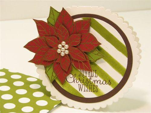 5 Poinsettia Circle Card - Anne Granger