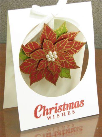 6 Poinsettia Window Card - Anne Granger