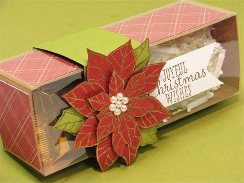3 Poinsettia Gift Box - Anne Granger