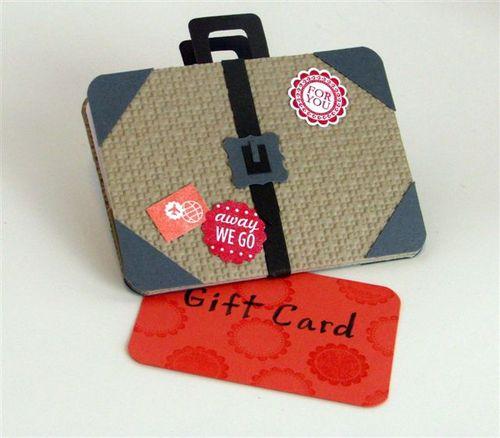 15 - Suitcase Gift Card Holder - Julie Oliver