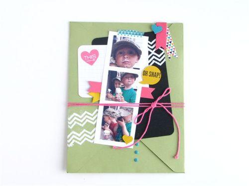 16 - Envelope Scrapbook Page - Anne Granger
