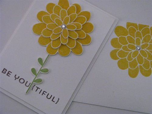 10 Yellow Flower Card - Martha Inchley