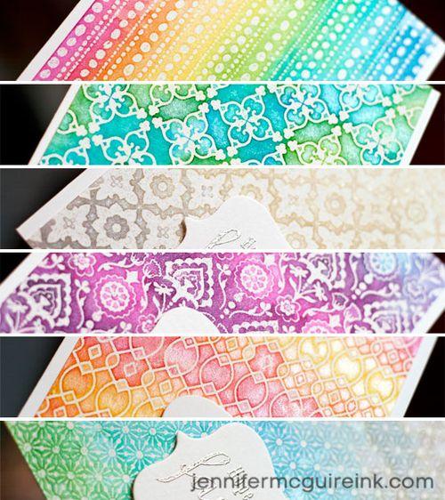 7 watercolor distress ink