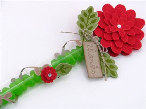 14 Red Flower Party Favour - Martha Inchley
