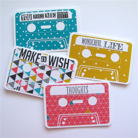 4 - Cassette Tape Note Cards - Allison Okamitsu
