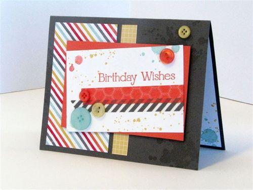 12 - Birthday Wishes Card - Julie Oliver