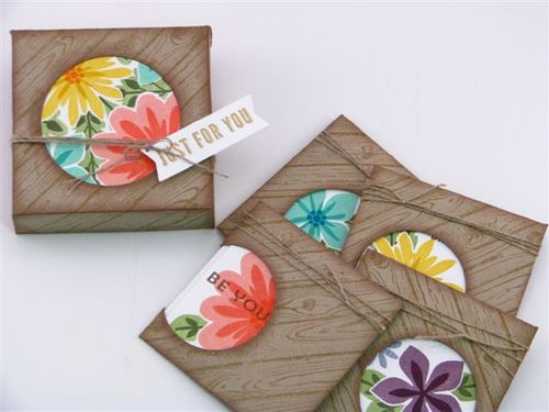 16b 3 X 3 card package  - Martha Inchley