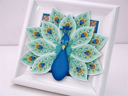 13 Peacock Picture Frame - Martha Inchley