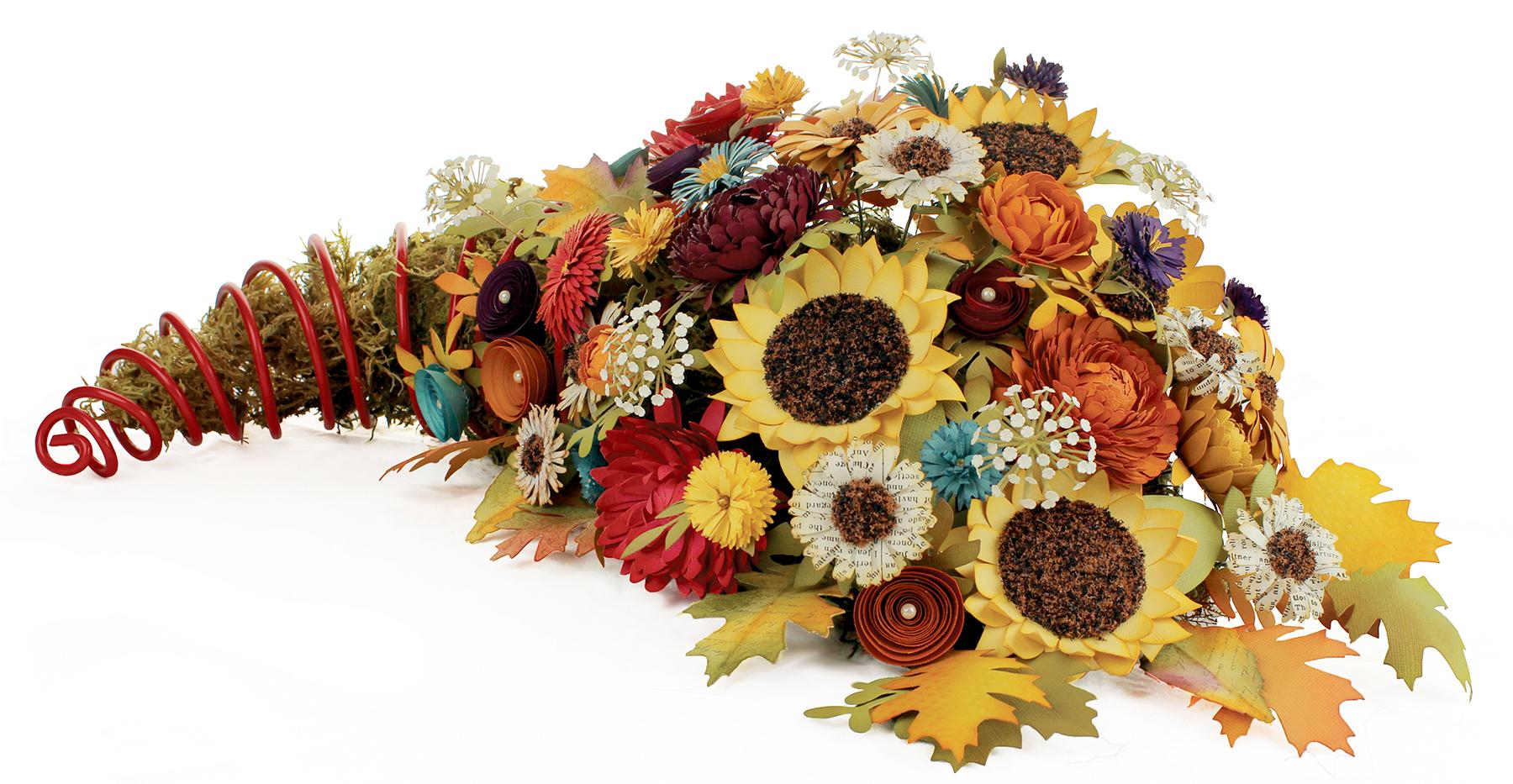 How to scrapbook flowers - Cornucopia