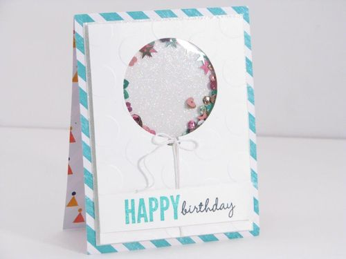 2 Birthday Shaker card - Cathy Caines