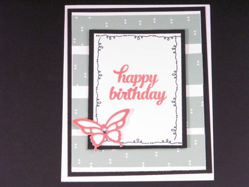 3 - Happy Birthday Butterfly card - Anne Granger