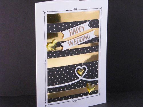 6 - Happy Wedding card - Julie Oliver