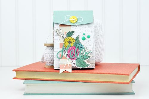 Hello Sizzix Die Cut Pocket Mini Album by Jen Gallacher