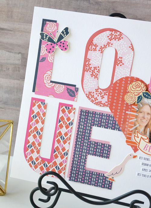 LOVE layout by Aly Dosdall 2