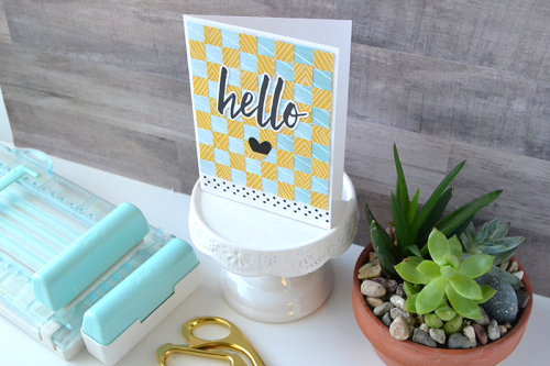 Paper Weaving Card by Aly Dosdall 5