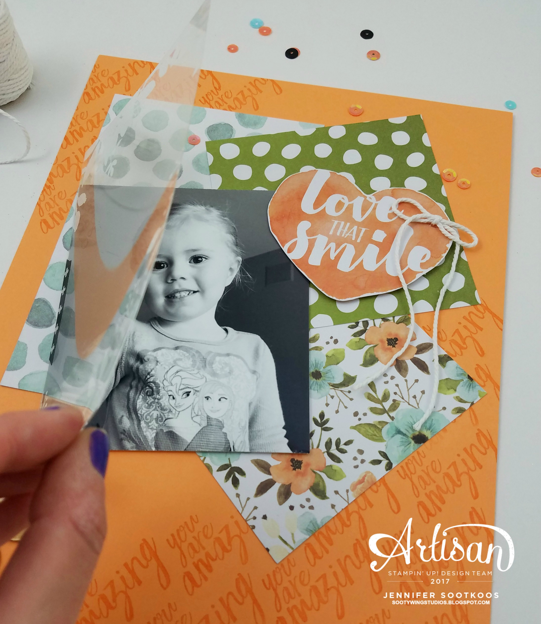 How to make scrapbook using illustration board - Then The Finishing Touches Were Some Sequins And Other Embellishments From The Hello Lovely Project Life Accessory Pack I Also Added A Pretty Bow Using