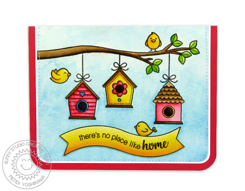 A Bird's Life Watercolor Masking Card-Blog1