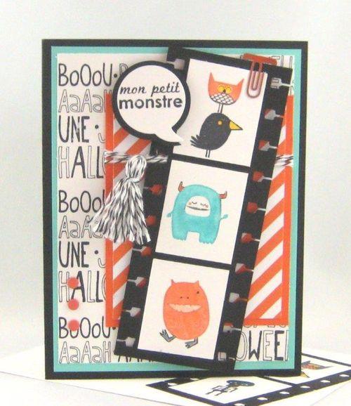 11 Little monster card - Susy Coté