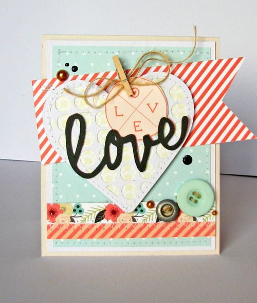 Paper hearts card