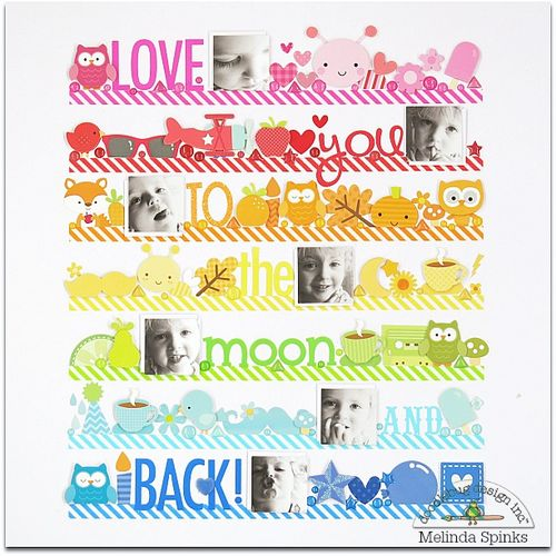Doodlebug - Melinda Spinks - To The Moon & Back - Layout 1