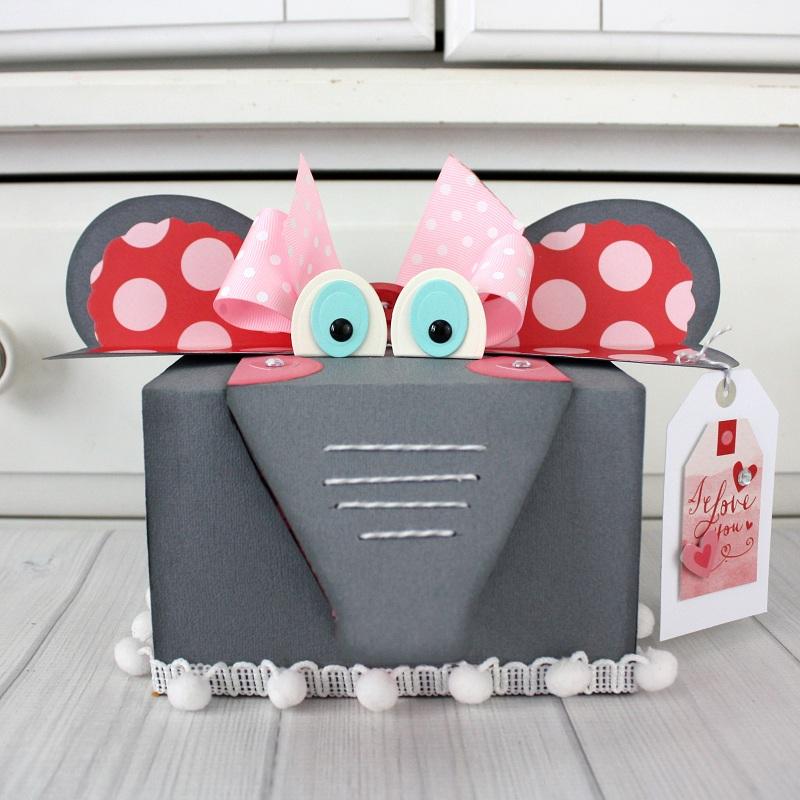 Shellye McDaniel Elephant Valentine Treat Box5