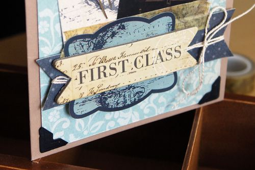 First Class Travel Card Close Up Photo by Jen Gallacher
