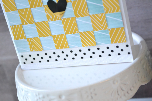 Paper Weaving Card by Aly Dosdall 4