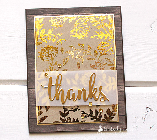 Kimberly Crawford 1 stamp 3 ways stamping and foiling