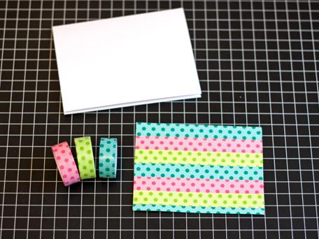 Washi cards step 1