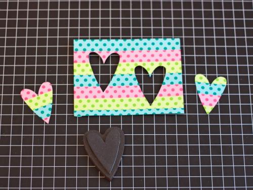 Washi cards step 2