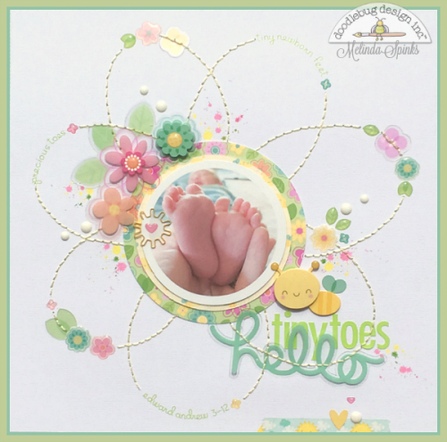 Spring Things - Hello Tiny Toes - Layout