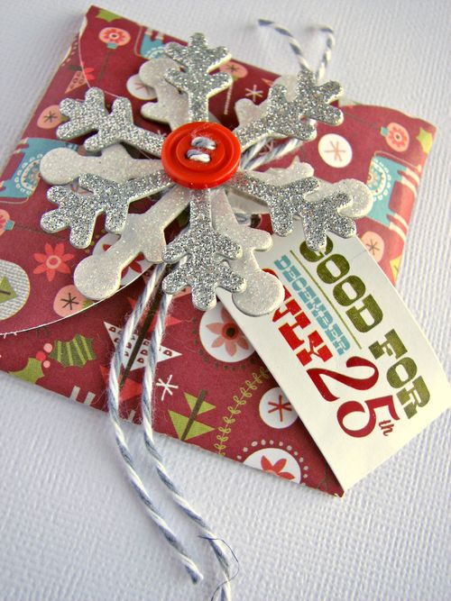 Gift holder snowflake 2