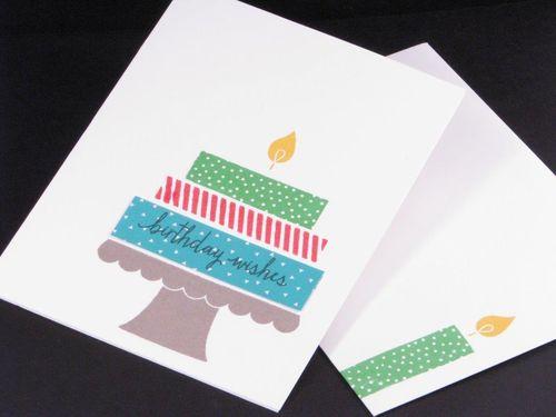 2 -  Birthday wishes card - Angela McKay