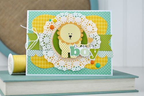 Our Boy Lion Card by Jen Gallacher