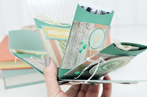 Hello Sizzix Die Cut Pocket Mini Album Inside Photos by Jen Gallacher